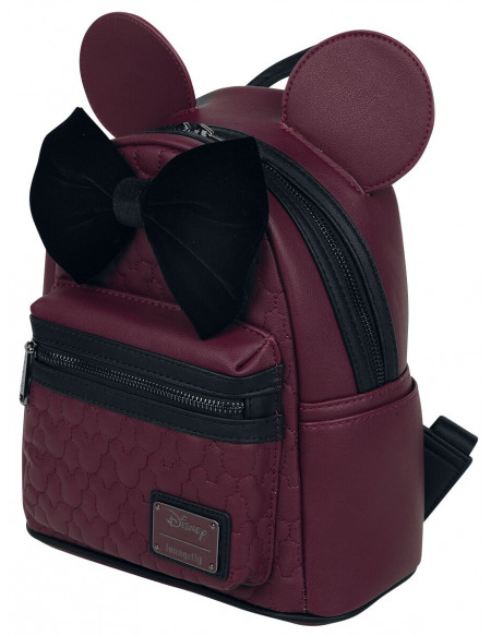 Mickey & Minnie Mouse Loungefly - Minni Sac à Dos bordeaux