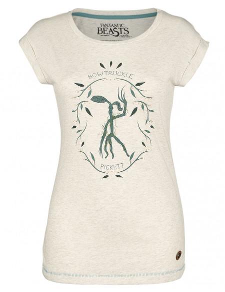 Les Animaux Fantastiques Pickett T-shirt Femme crème marbrée