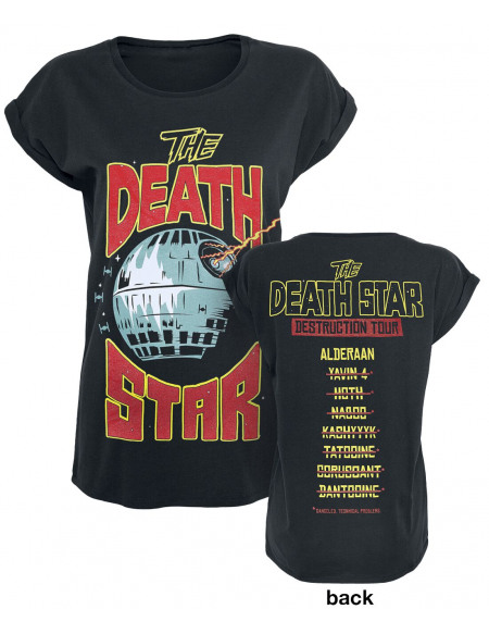 Star Wars Death Star Destruction Tour T-shirt Femme noir