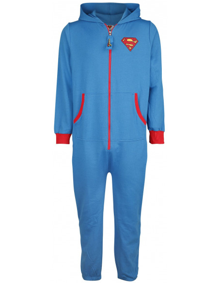 Superman Logo Combinaison bleu