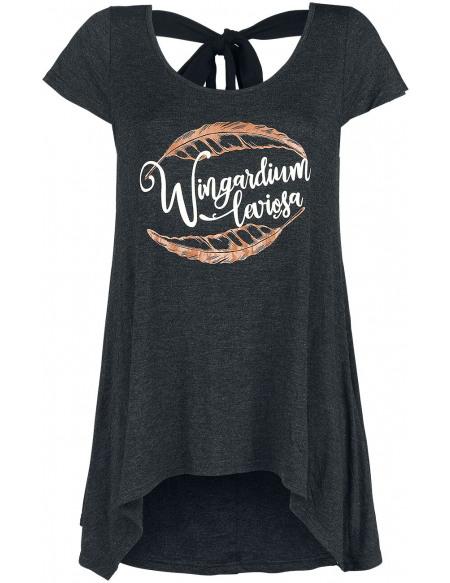 Harry Potter Hermine - Wingardium Leviosa T-shirt Femme gris foncé