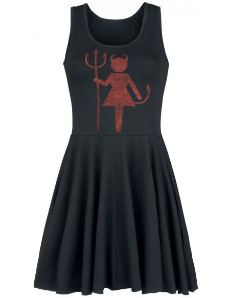 Devil Girl Robe noir