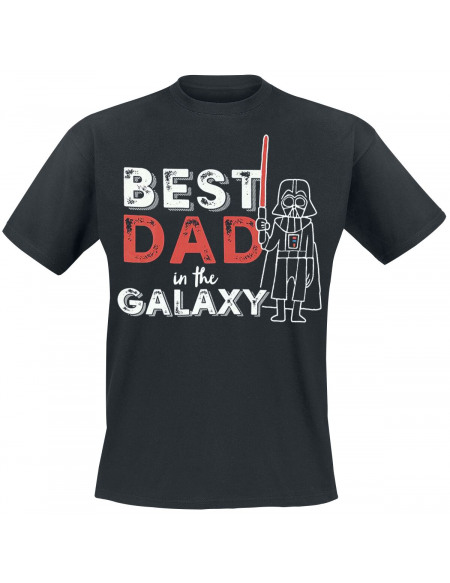 Star Wars Dark Vador - Best Dad In the Galaxy T-shirt noir