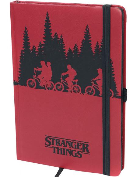 Stranger Things Upside Down Cahier rouge