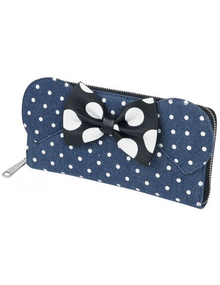 Mickey & Minnie Mouse Loungefly - Minni Portefeuille bleu
