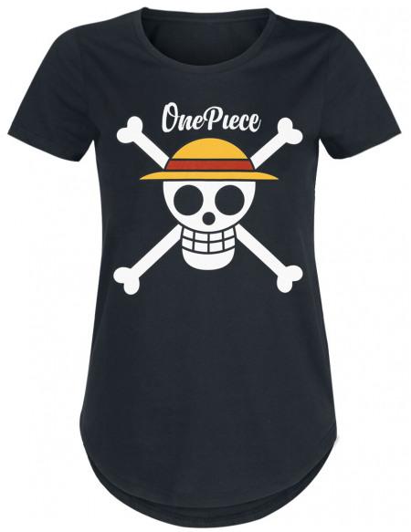 One Piece Logo T-shirt Femme noir