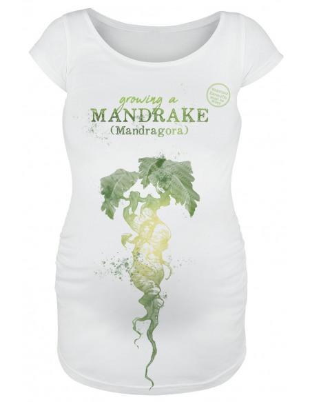 Harry Potter Mandragore T-shirt Femme blanc