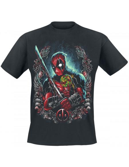Deadpool Sucette T-shirt noir