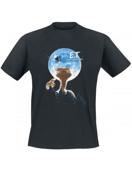 E.T. - the Extra-Terrestrial Moon T-shirt noir