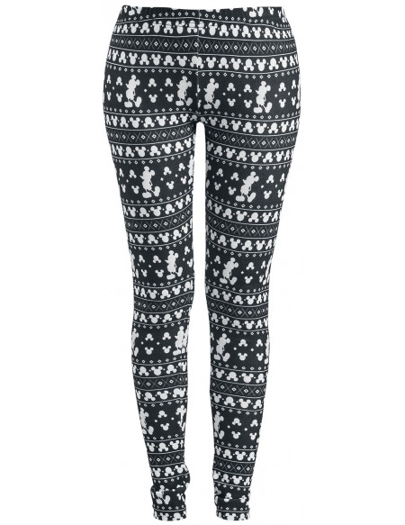 Mickey & Minnie Mouse Hiver Legging noir/blanc
