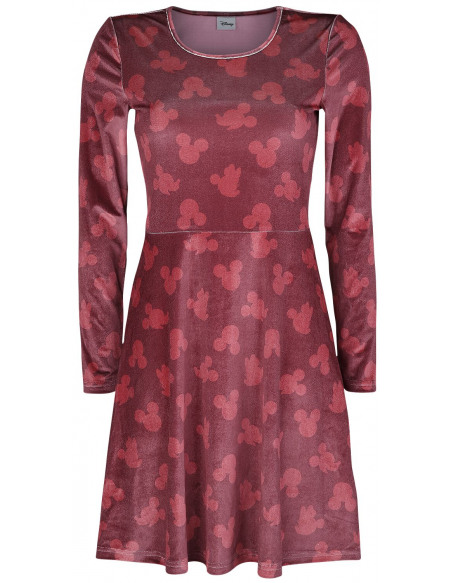 Mickey & Minnie Mouse Micket & Minnie - Silhouettes Robe bordeaux