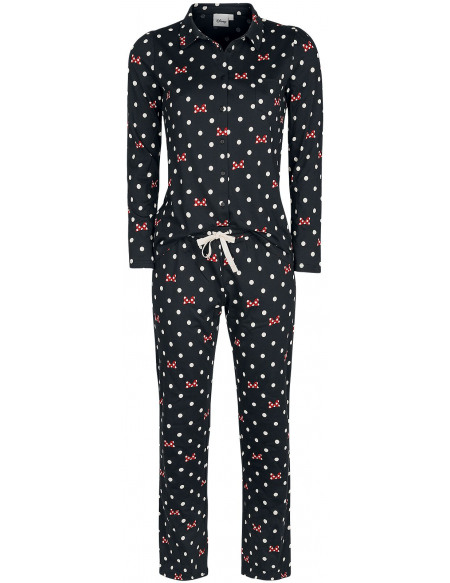 Mickey & Minnie Mouse Minnie Mouse - Pois & Nœuds Pyjama noir