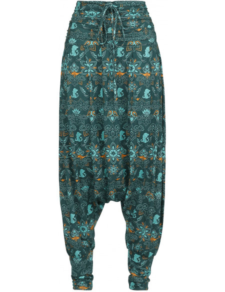 Aladdin Nuits D'Arabie Pantalon Femme vert/vert foncé