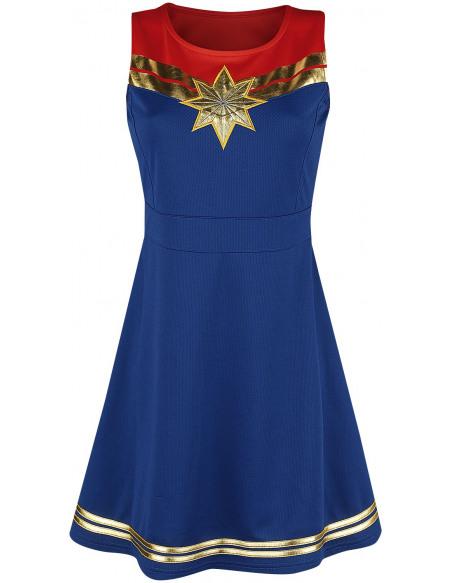 Captain Marvel Captain Marvel Star Robe bleu/rouge