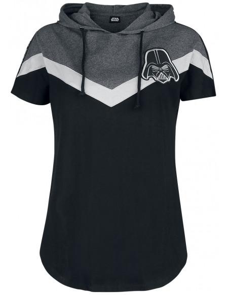 Star Wars Dark Vador T-shirt Femme noir/gris chiné