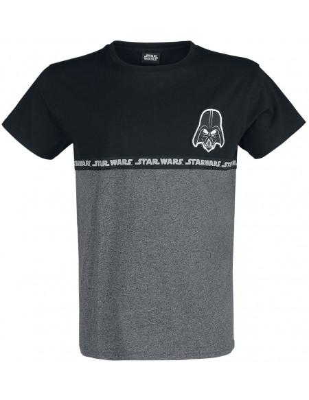 Star Wars Dark Vador T-shirt gris foncé chiné/noir
