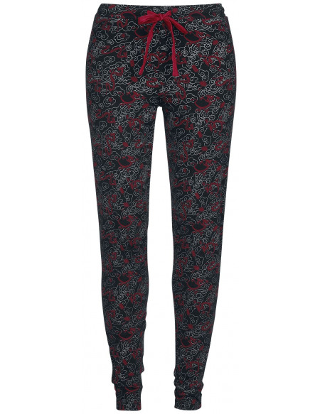 Mulan Mushu Bas de pyjama noir/rouge