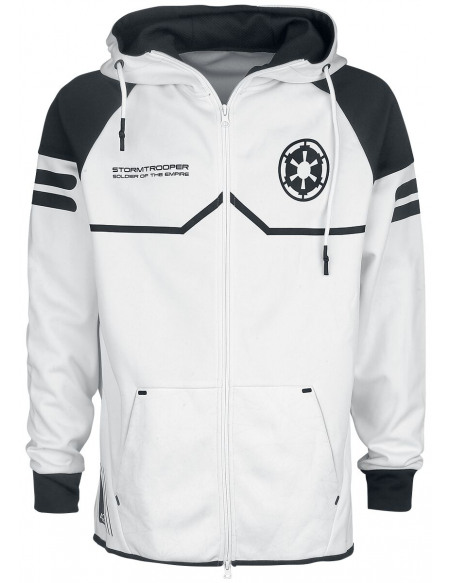 Star Wars Stormtrooper Sweat Zippé à Capuche blanc