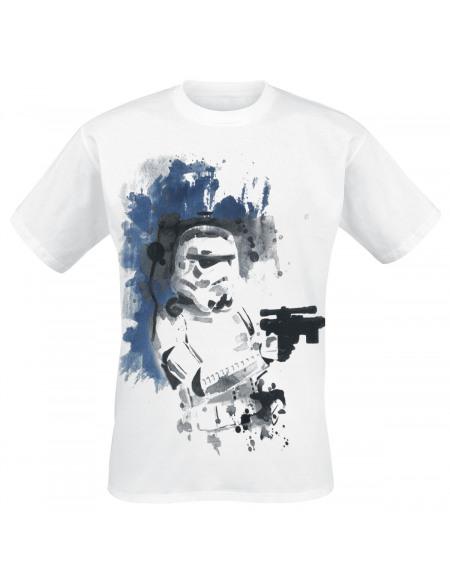 Star Wars Star Wars Épisode 4 - Un Nouvel Espoir - Stormtrooper Encre T-shirt blanc