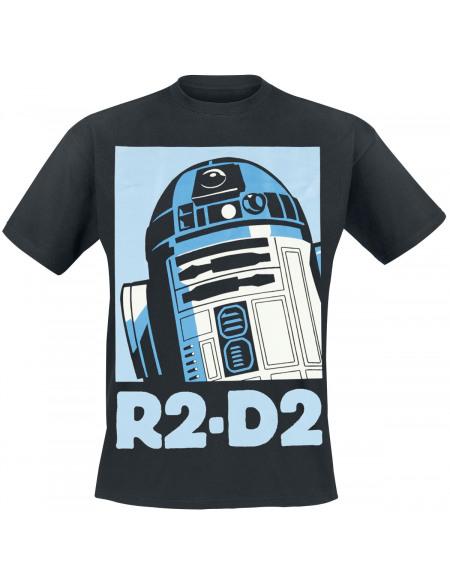 Star Wars Épisode 4 - Un Nouvel Espoir - R2D2 T-shirt noir