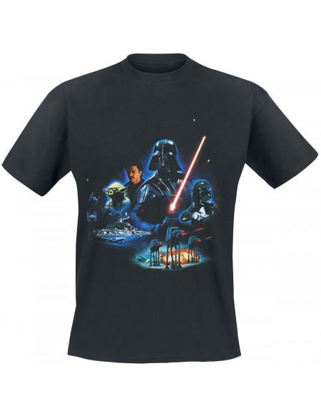 Star Wars Épisode 5 - L'Empire Contre-Attaque - Poster T-shirt noir