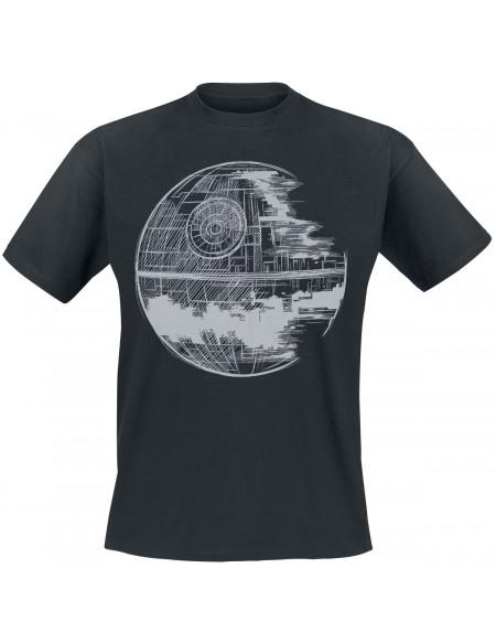 Star Wars Épisode 4 - Un Nouvel Espoir - Étoile de la Mort T-shirt noir
