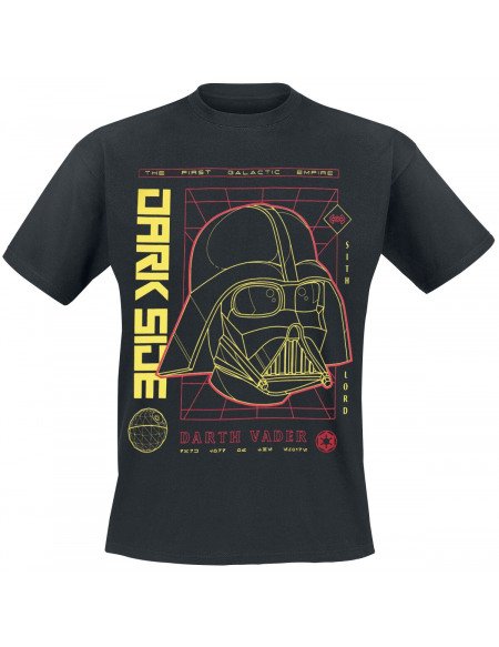 Star Wars Rebels - Helmet Blueprint T-shirt noir
