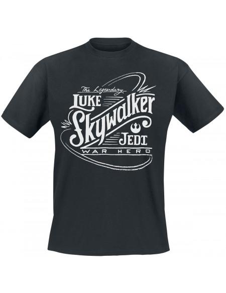Star Wars Luke Skywalker War Hero T-shirt noir