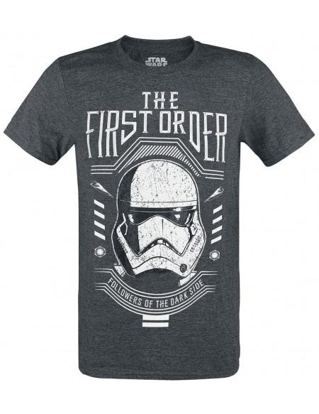 Star Wars Épisode 9 - L'Ascension De Skywalker - The First Order T-shirt gris sombre chiné