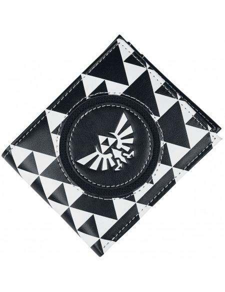 The Legend Of Zelda Triforce Portefeuille noir/blanc