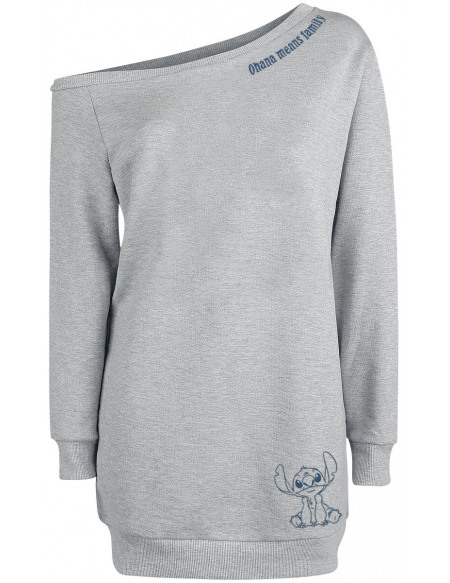 Lilo & Stitch Ohana Means Family Robe gris clair