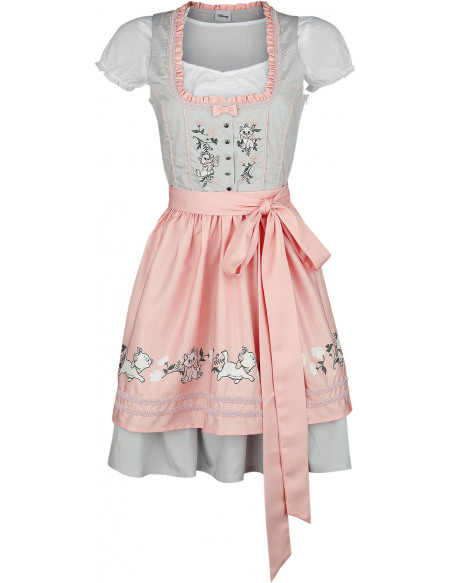 Les Aristochats Marie Robe gris/rose