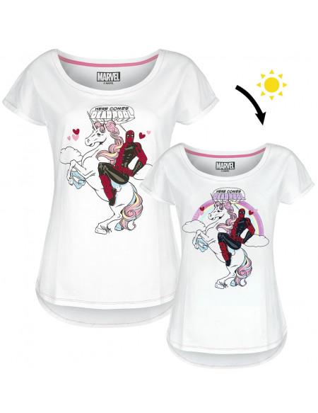 Deadpool T-shirt Femme blanc