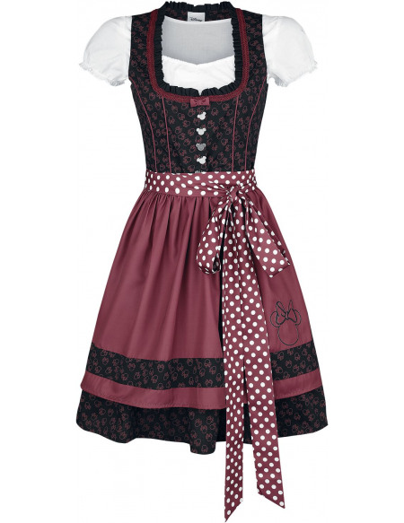 Mickey & Minnie Mouse Minnie Robe noir/rouge