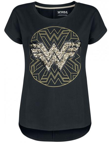 Wonder Woman Wonder Woman 1984 - Logo Doré T-shirt Femme noir
