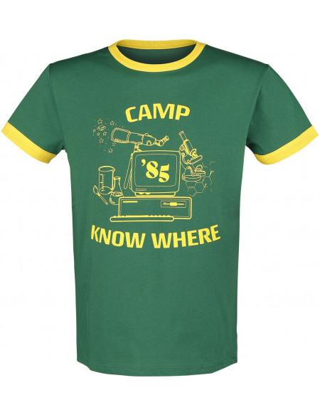 Stranger Things Camp Know Where T-shirt vert/jaune