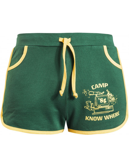 Stranger Things Camp Know Where Short Femme vert/jaune