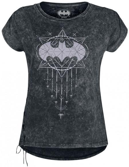 Batman Batwoman T-shirt Femme gris foncé
