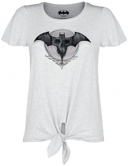 Batman Bat-Logo T-shirt Femme blanc chiné