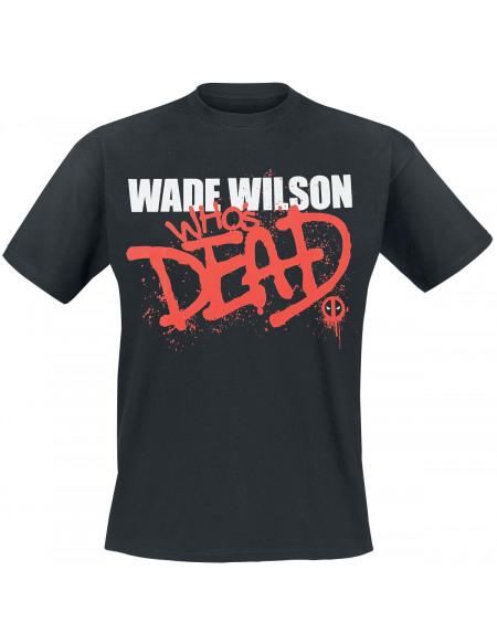 Deadpool Wade Wilson - Who`s Dead T-shirt noir