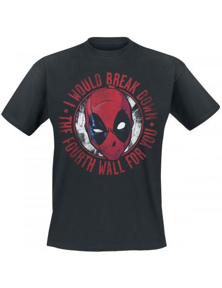 Deadpool Break Down T-shirt noir