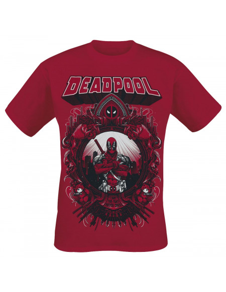 Deadpool This Fight Never Ends T-shirt rouge