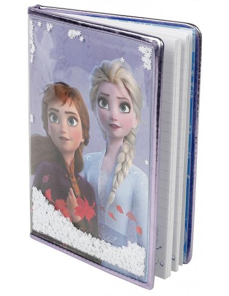 La Reine Des Neiges Anna & Elsa - Carnet Avec Flocons Cahier blanc