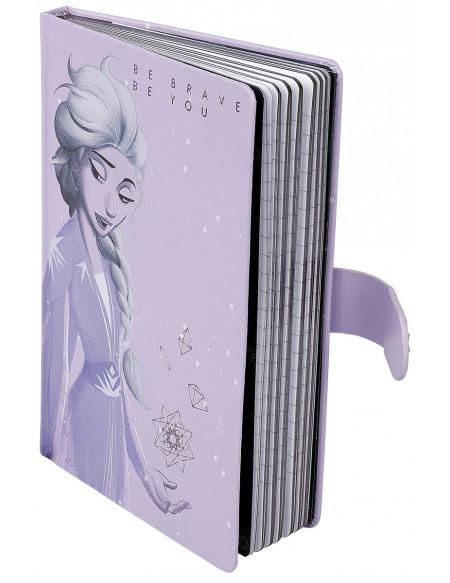 La Reine Des Neiges Elsa - Be Brave Be You Cahier rose clair