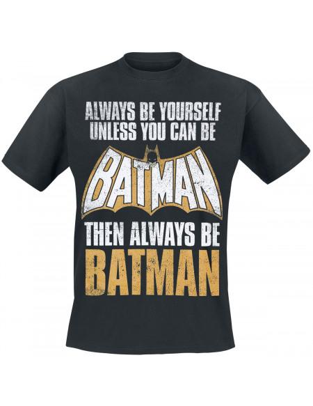 Batman Always Be Yourself T-shirt noir