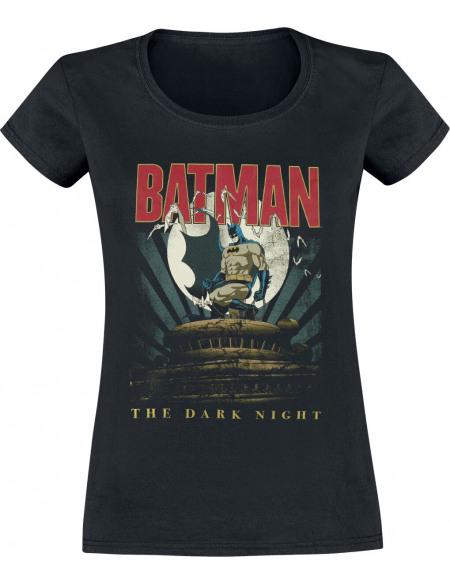 Batman The Dark Knight T-shirt Femme noir