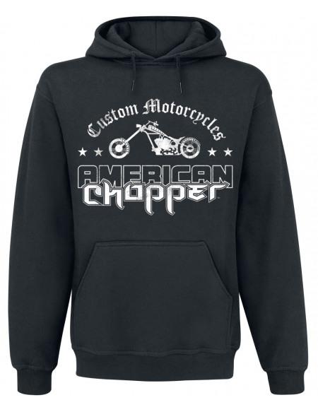 American Chopper Logo Usé Sweat à capuche noir