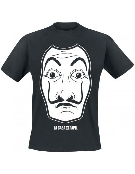 Haus des Geldes Masque Blanc T-shirt noir