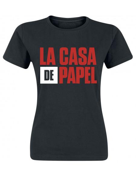 Haus des Geldes Logo T-shirt Femme noir