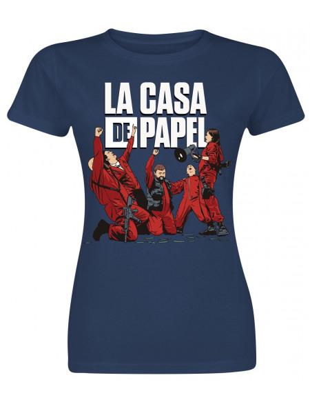 Haus des Geldes Célébration T-shirt Femme bleu foncé